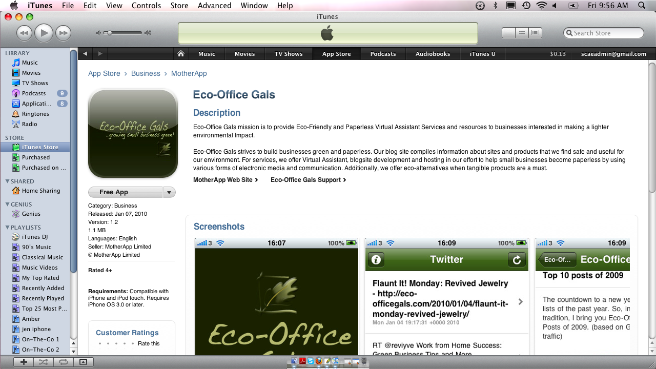 Eco-Office Gals On Your iPhone!