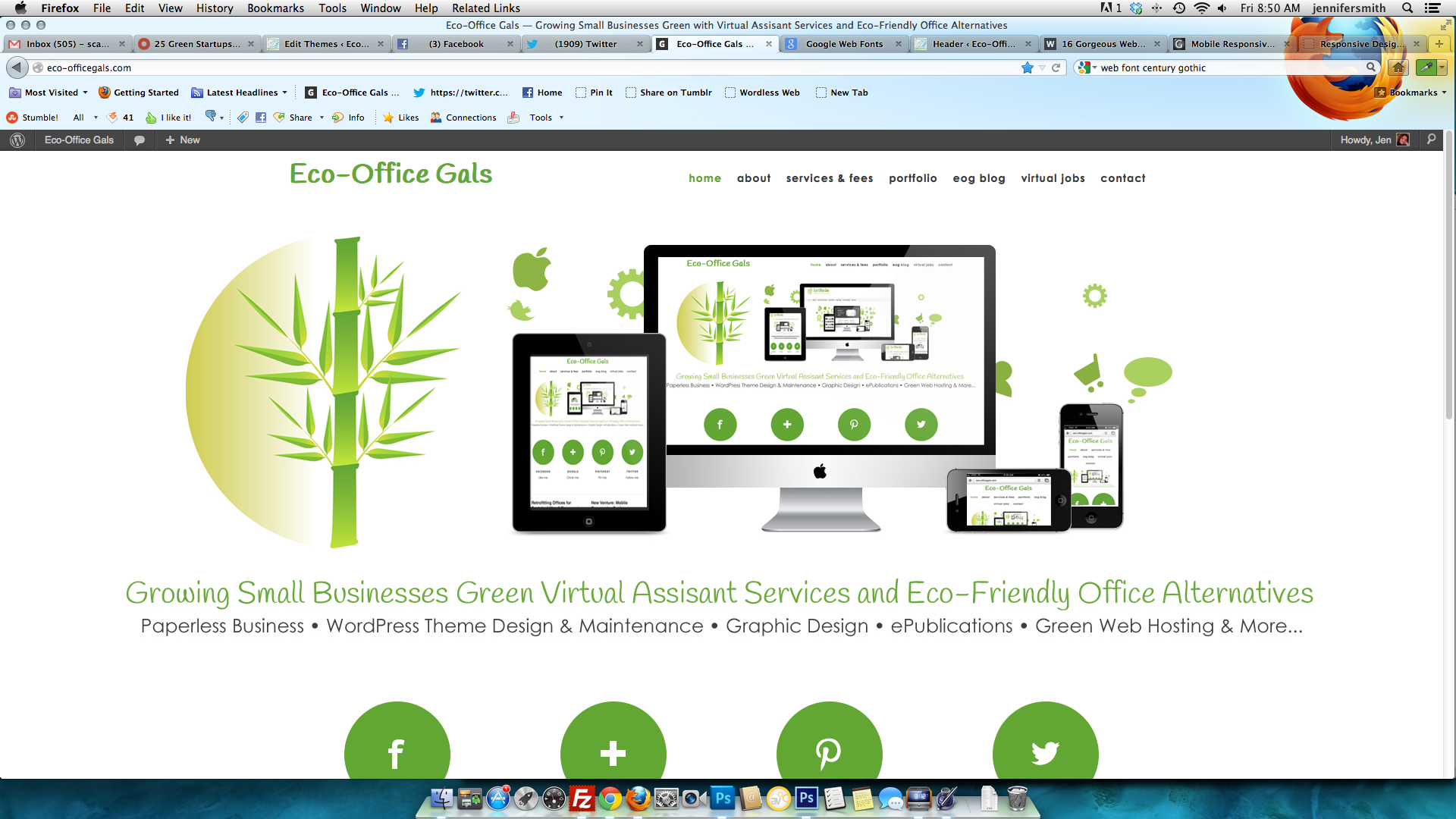 New Life: Eco-Office Gals is Mobile Responsive