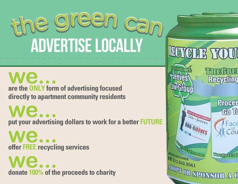 The Green Can Is Recycling for the Benefit of Mankind