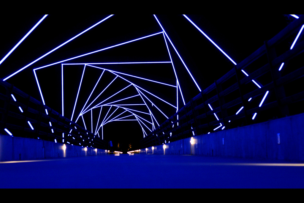 High Trestle Trail Bridge @ Night